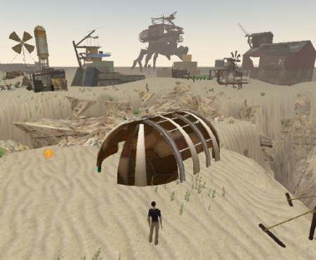 Wasteland - yurt welcome center